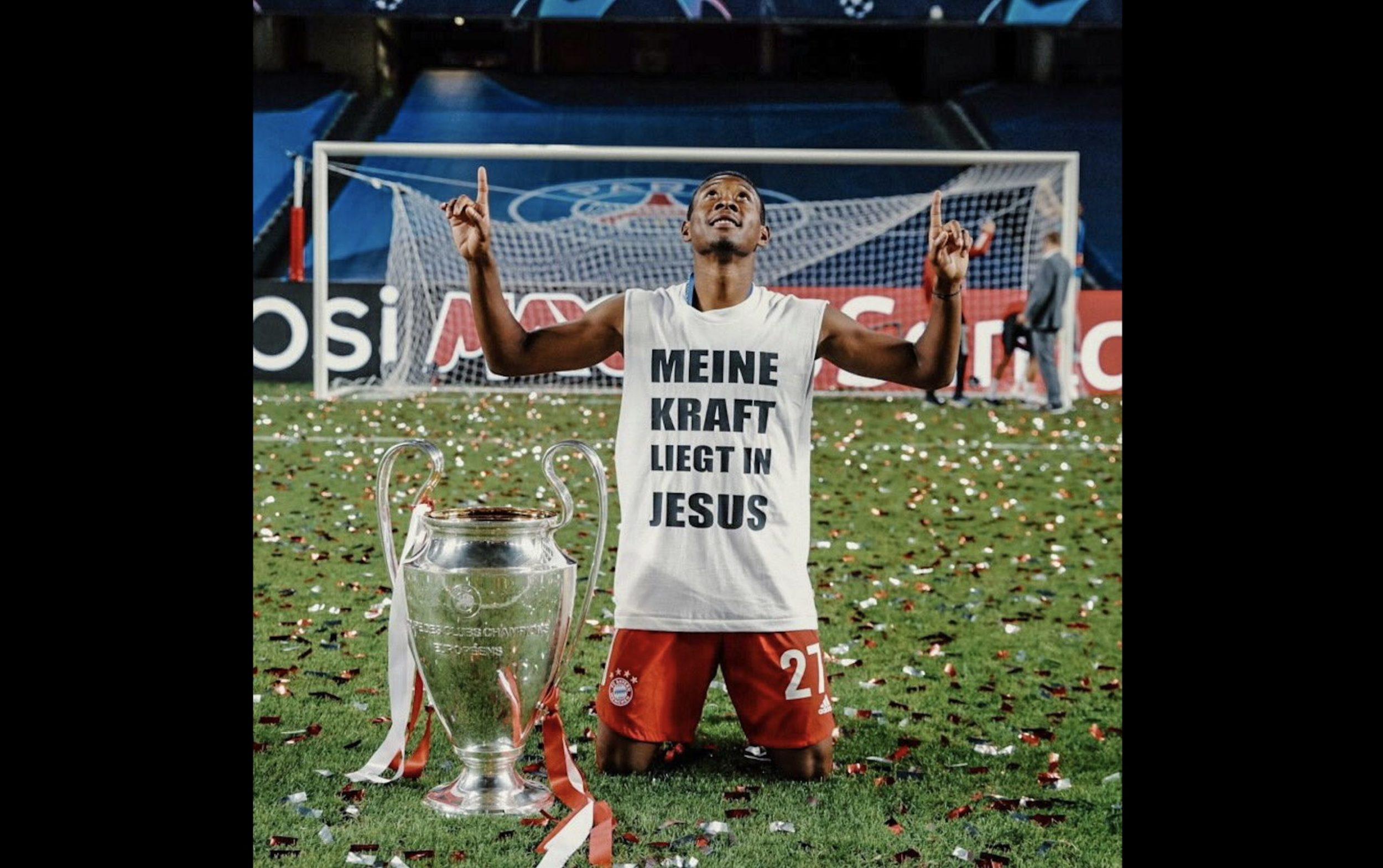 Football : «Ma force réside en Jésus», affiche David Alaba vainqueur de la Ligue des Champions