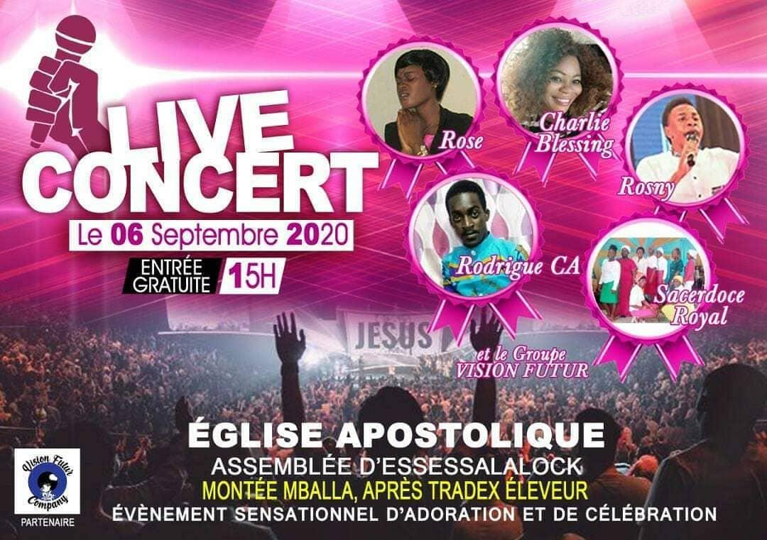 Concert live d'adoration et de célébration