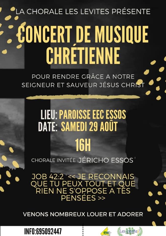 Concert de musique avec la Chorale les Lévites