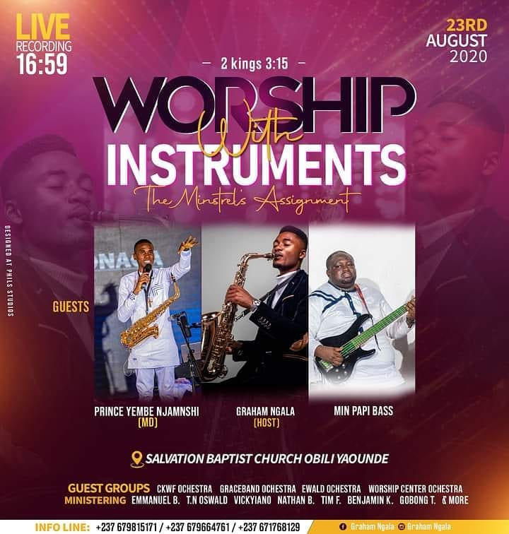 Worship with instruments live recording