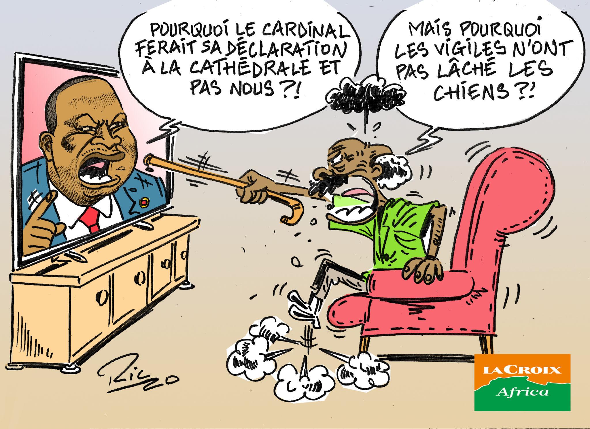 L'œil de Ric: À Abidjan, indignation après un point de presse de membres du gouvernement ivoirien à la cathédrale