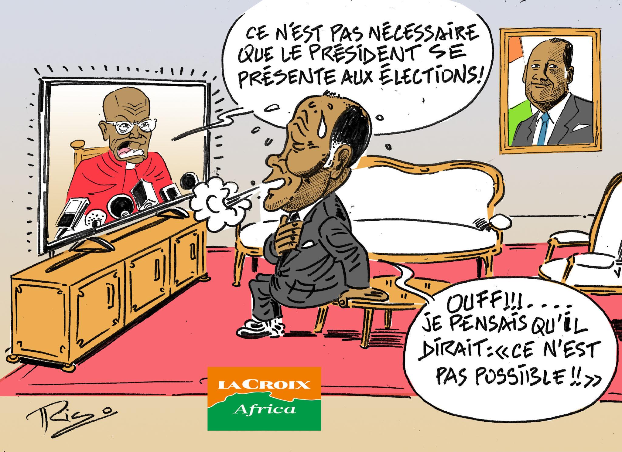 L'œil de Ric: La candidature du président Ouattara à l'élection présidentielle «n'est pas nécessaire», selon le cardinal Kutwa